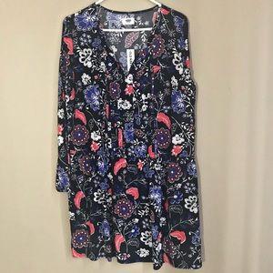 NEW Old Navy Black Floral Dress